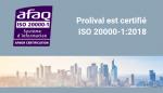 Prolival obtient la certification ISO 20000-1:2018