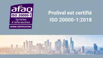 Prolival certification ISO 20000 ITIL
